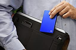 Seagate Backup Plus Slim 2TB Portable External Hard Drive with Mobile Device Backup  USB 3.0, Blue (STDR2000102)
