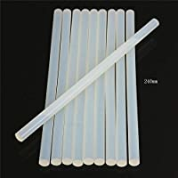 10/20/50pcs 11mmx250mm Clear Glue Adhesive Sticks For Hot Melt Gun Car Audio Craft transparent For Alloy Accessories Wholesale-50pcs