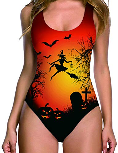 RAISEVERN Helloween Witch 3D Printed Humor Bodysuit Pro