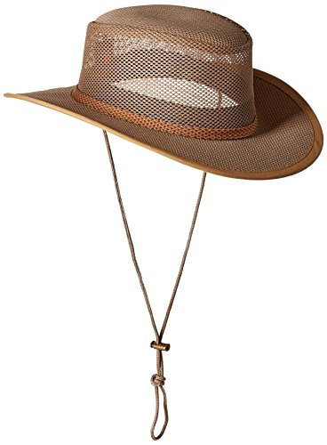 Stetson Men's Mesh Covered Hat, Beaver, (Dorfman Pacific Mesh Safari Hat)