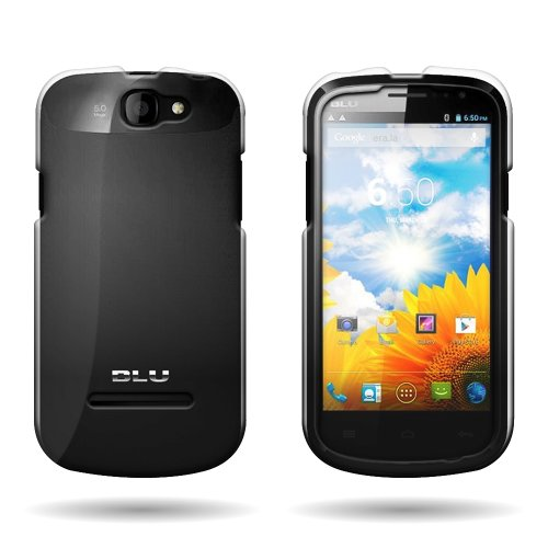 CoverON Hard Plastic Slim Case for BLU Dash 4.5 D300 - with Cover Removal Pry Tool - Clear (D300 Housing)