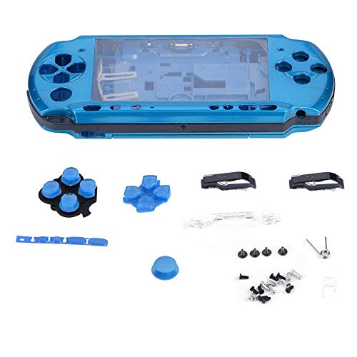 (Aramox Replacement Full Housing Console Game Shell Case Cover Repair Parts for PSP 3000 Game (Blue))