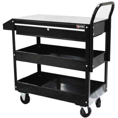 Excel TC301C-Black 36-Inch Steel Tool Cart, Black NewGY#583-4 6-DFG248945