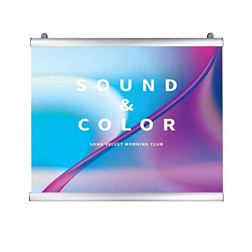 - Poster Hanger Banner Frame Aluminum Material for Wall Home Decor Wall Art,Matt Silver(48 inches Wide)