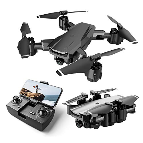Drone for Beginner with 1080P HD FPV Camera, Foldable RC Quarcopter for Kids with Altitude Hold, Headless Mode, One Key…