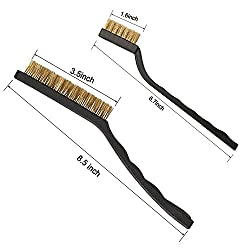 Amariver 6 Pieces Clean Scratch Brush, Stainless Steel Wire Brass Wire Nylon Toothbrush Wire Brushes for Cleaning Welding Slag and Rust (7 & 9 Inches)