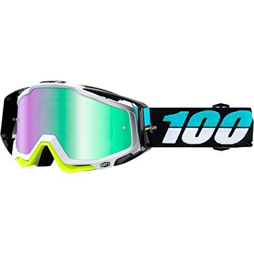 100% - Masque 100% Racecraft St Barth Ecran Miroir Vert blanc