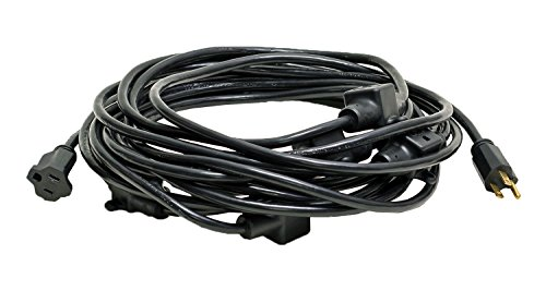 50-Foot 14/3 11-Outlet Backline Power Extension Cord for A/V Entertainment Events Black MO14050BK ()