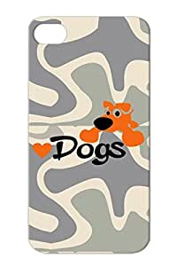 Drop Resistant Animals Nature Dogs Cute Animals Dog Love Dogs For Iphone 4s Bronze TPU Dog Case
