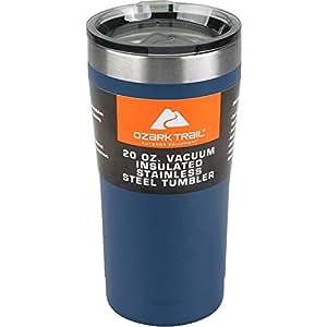 Ozark Trail 20-Ounce Double-Wall, Vacuum-Sealed Tumbler (1, Navy Blue)