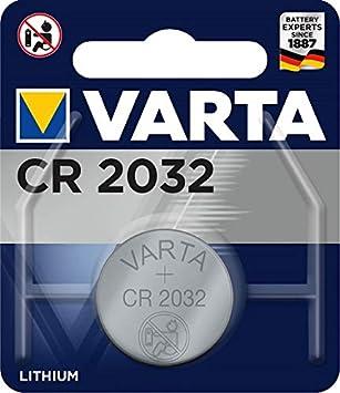 Varta CR2032 - Pack de 1 pila (Litio, 3V, 230 mAh: Amazon.es ...