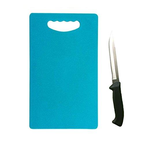 Floraware® Plastic Chopping Board, 1 Knife Free, Blue