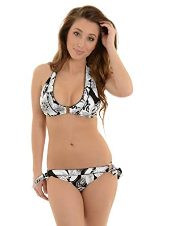 Amazon.com: Leilani Women's 2 Piece Black and White Bikini