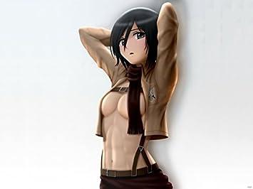 Amazon sv6302 attack on titan mikasa ackerman shingeki no sv6302 attack on titan mikasa ackerman shingeki no kyojin hot topless sexy anime manga art 24x18 voltagebd Images