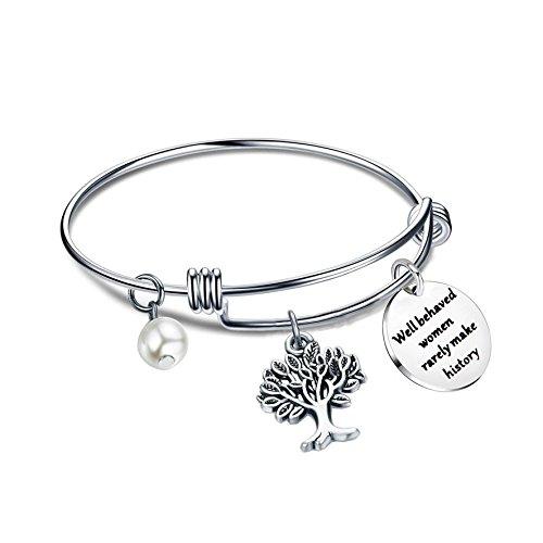 (Gzrlyf Well Behaved Women Rarely Make History Bracelet Feminist Charm Jewelry Motivational Gift (bracelet))