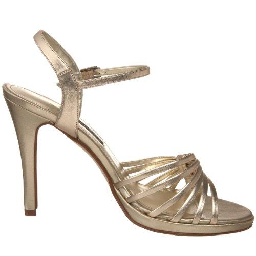 Caparros Femmes Kerry Plateforme Sandale Or Métallique