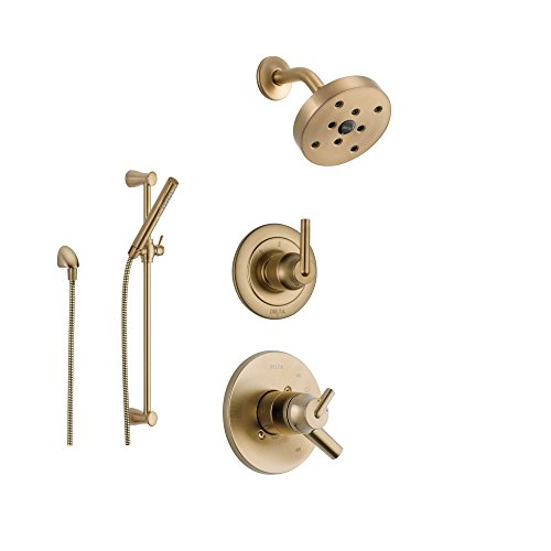 Delta Trinsic Champagne Bronze Shower System with Dual Control ...