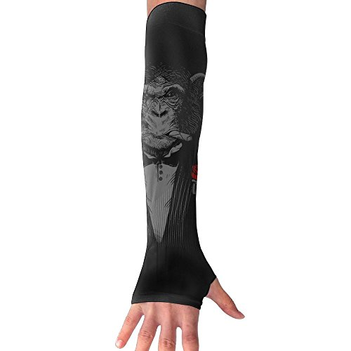 Arms Cigars - UV Sun Protection Arm Sleeve Thumb Hole Breathable Ice Silk Compression Glove Chimpanzee Boss Cigars Red Rose Print,Outdoor Baseball,Golf,Basketball