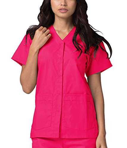 Adar Universal Double Pocket Snap Front Top (Available in 39 colors) - 604 - Fruit Punch - 2X