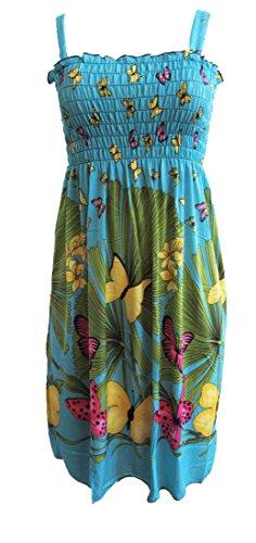 Womens Summer Sun Dresses Print Beach Casual Sundress