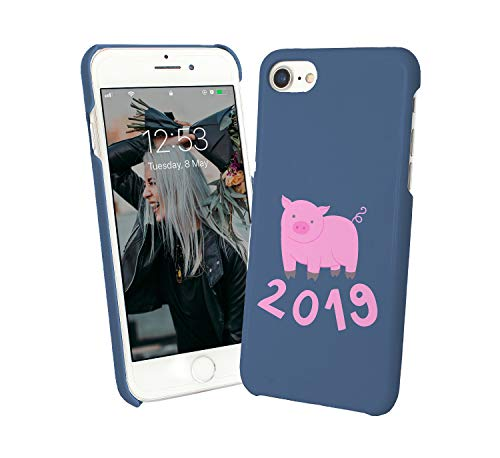 2019 Pig Year Chinese Calendar_010058 Phone Case Cover Hard PC Cover for Protection Compatible with for Samsung Galaxy S7 Edge Funny Gift Christmas