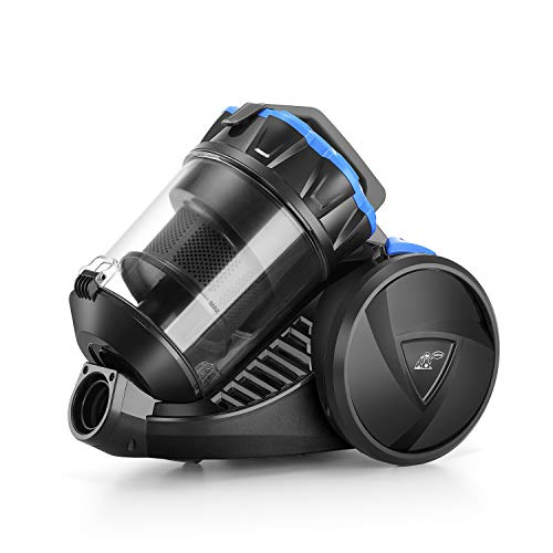 PUPPYOO S7 Mate Multi-Cyclonic Vacuum Cleaner Canister Bagless Power Silence 6 Accessories 17Kpa Black and Blue
