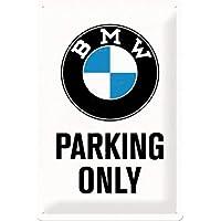 Nostalgic-Art BMW Parking Only White Placa Decorativa, Metal