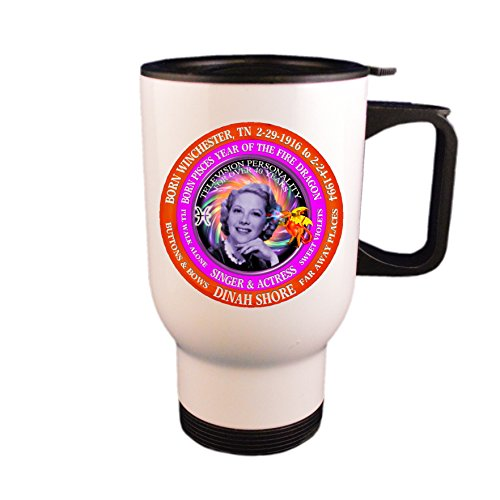 3ecbfc5d4 Dinah Shore Famous 50's Singer Travel Mug / Cup, Astrology P