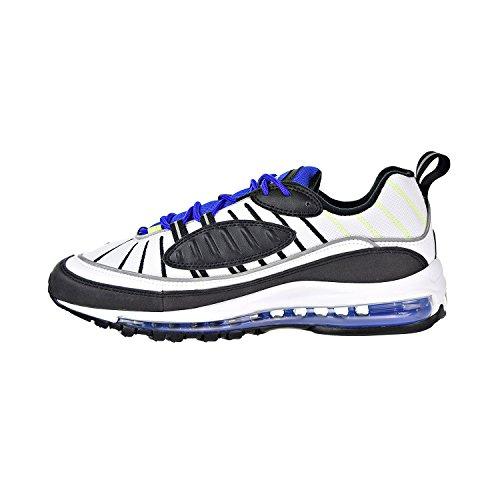 Comprar Barato Caliente De La Venta Original De Salida Nike Air Max 98 White/Black/RACERBLUE/Volt Bianco-nero-blu Limitado aG8JL