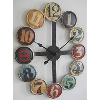 Amazoncom Multicolor Wall Clock Home Kitchen
