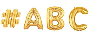 custom big letter balloon word make your own word out of 40 inch gold letter