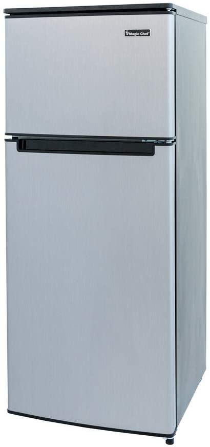 Magic Chef HMDR450SE Double Door Mini Refrigerator Stainless Look 4.5 cu. ft.