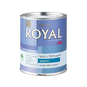 Latex Acrylic Enamel Wall Trim Ultra White Base Interior Satin Quart House Paint