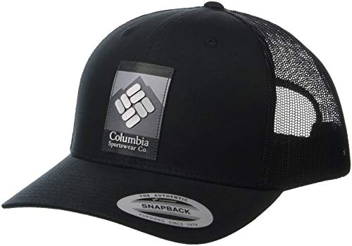 Columbia Men's Mesh Snap Back Hat, Black, One Size