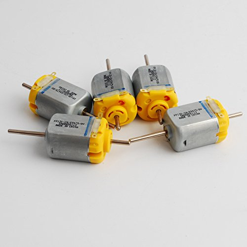 NW 5pcs 1.5-12V DC Biaxial Axis Carbon Brush 130 Motor Strong Magnetic 12V 5400RPM 6V 3000RPM Toy Motor