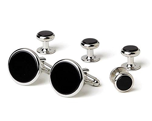 Classic Genuine Onyx Tuxedo Cufflinks and Studs ()