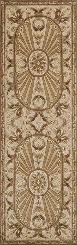 Momeni Rugs Harmony Collection, Traditional Area Rug, 2 6 x 8 Runner, Light Brown