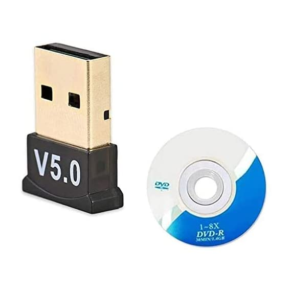 Rocketkart USB Bluetooth 5.0 Dongle Adapter, Wireless Bluetooth Transmitter Receiver Supports Windows 10/8.1/8 / 7