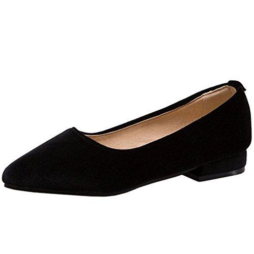 On Zanpa Pumps Slip Flat Moda Mujer Negro Flats qXrwt6X8Z