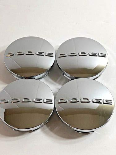 Dodge Letter Chrome Wheel Center Caps 2.5 63mm 1SK35TRMAA Mopar OEM Set of 4