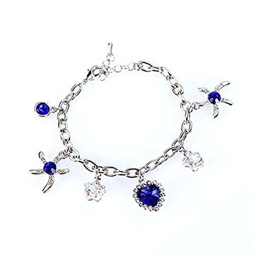 [LuxuryLady-5 Austrial Crystal Sexy Leisure Fashion Women Female Bracelet(C4)] (Famous Musical Costume Designers)