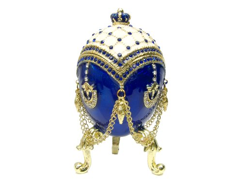 (Faberge Egg Wedding or Engagement Ring Jewelry Box)