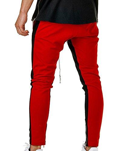 Fit Casual Uomo Jogging Pantaloni Sportivi Bianco Slim Cargo UPYYqwnWA