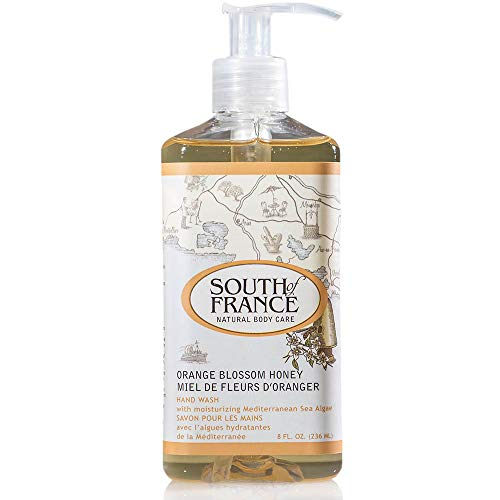 Orange Blossom Honey - South of France Natural Body Care 8oz Hand Wash (3 Bottles)