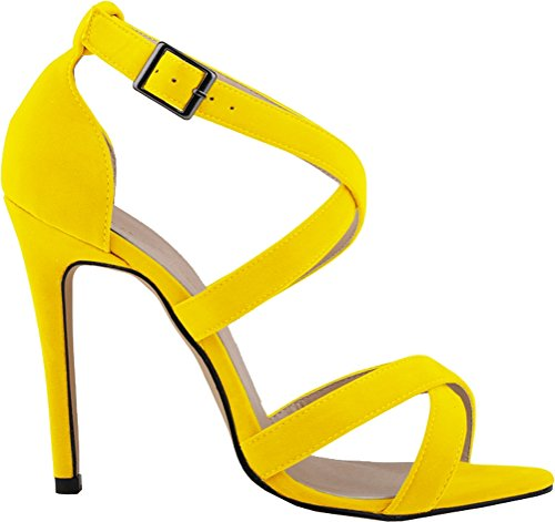 CFP - Zapatos con tacón mujer amarillo