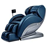 Real Relax Superior Massage Chair Recliner with Pad, Yoga Stretch, 3D Robots Hands Rollers, Black