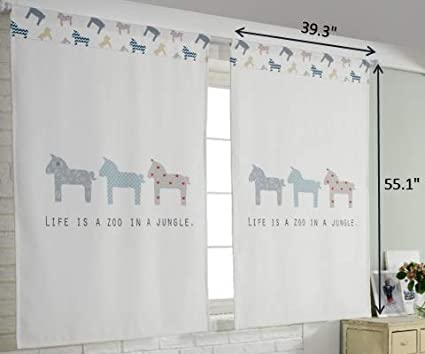 Because of Your Smile Tori bebe Cute Playroom Baby Kids Room Curtains for Small Windows 2 Panels