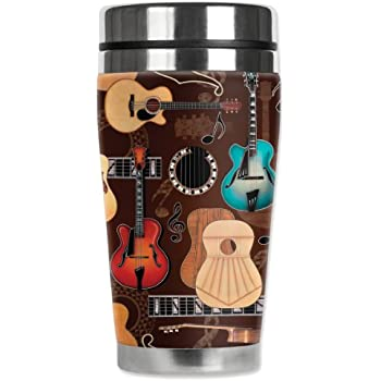 6 Types Choice Musical Instrument Guitar Electric Bass Stave Coffee Mug Tea Cup