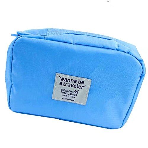 Black Plastic Slimline Body (Garrelett Toiletry Bags Totes Zipper Nylon Waterproof Cosmetic Handbag Case Wash Shave Pouch Organizer for Men Women (Lightblue))