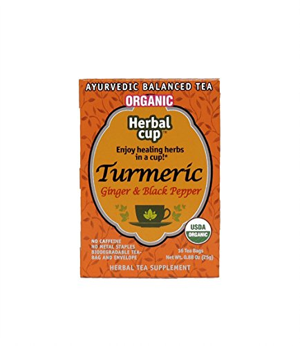 Herbal Cup Turmeric Ginger and Black Pepper 16 tea bags Orga